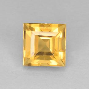 2.6ct Square Step-Cut Yellow Golden Citrine Gem (ID: 504088)