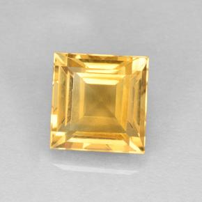 Yellow Golden Citrine Gem - 2.5ct Square Step-Cut (ID: 504091)