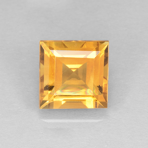 2.3ct Carré taillée en degrés Orange-Gold Citrine gemme (ID: 504592)