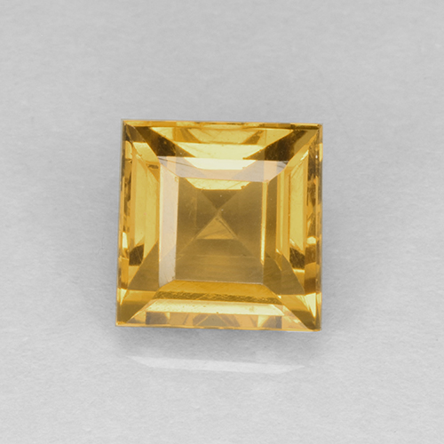 Medium Gold Citrina Gema - 2.3ct Corte cuadrado step (ID: 504594)