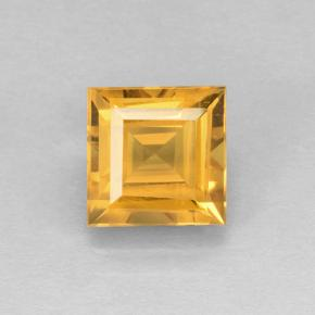 2.4ct Carré taillée en degrés Orange-Gold Citrine gemme (ID: 504600)