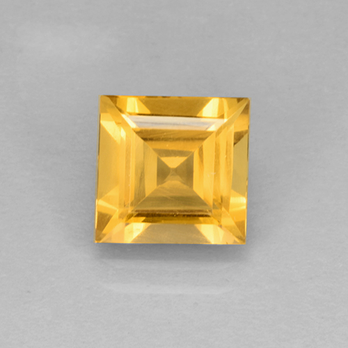 1.9ct Carré taillée en degrés Orange-Gold Citrine gemme (ID: 504601)