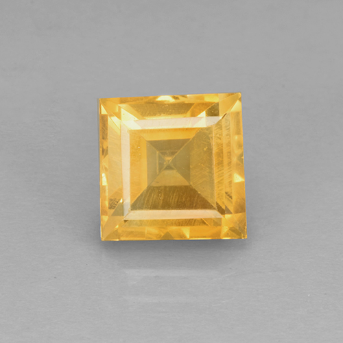 Bright Gold Citrina Gema - 2.3ct Corte cuadrado step (ID: 504602)