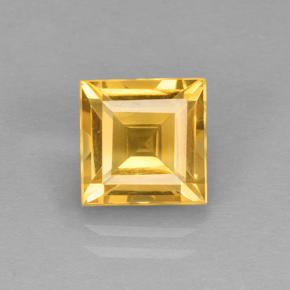 Yellow Golden Citrine Gem - 2.4ct Square Step-Cut (ID: 504606)