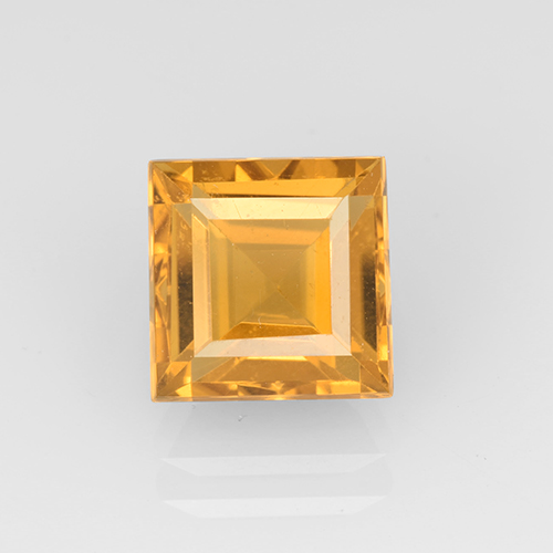 Yellow Golden Citrine Gem - 2.7ct Square Step-Cut (ID: 504656)