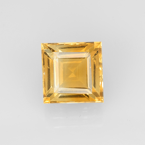 2.6ct Carré taillée en degrés Orange-Gold Citrine gemme (ID: 504657)