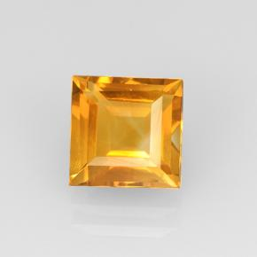 2.5ct Square Step-Cut Yellow Golden Citrine Gem (ID: 504663)