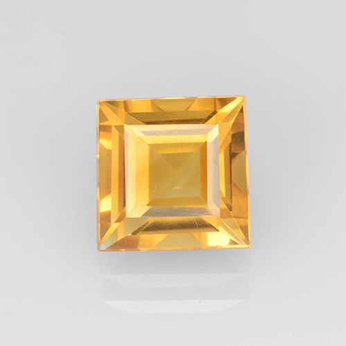 2.2ct Carré taillée en degrés Orange-Gold Citrine gemme (ID: 504664)