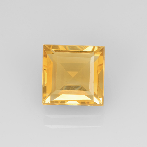 2.1ct Square Step-Cut Yellow Golden Citrine Gem (ID: 504667)
