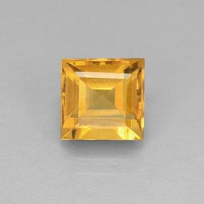 2.7ct Carré taillée en degrés Orange-Gold Citrine gemme (ID: 504676)