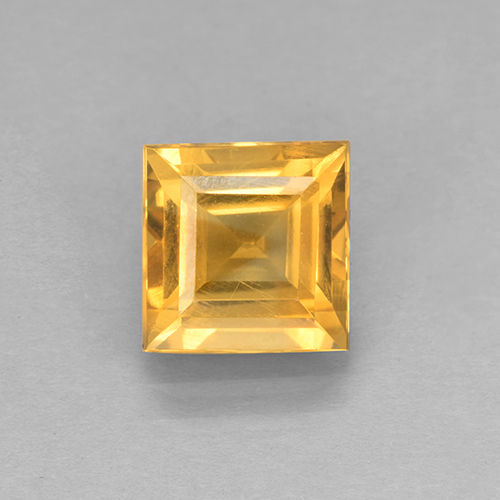 2.2ct Carré taillée en degrés Orange-Gold Citrine gemme (ID: 504677)
