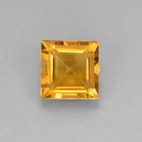 2.5ct Square Step-Cut Yellow Golden Citrine Gem (ID: 504678)