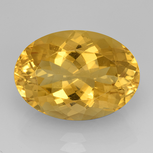 Medium Golden Citrina Gema - 12.5ct Forma ovalada (ID: 504829)