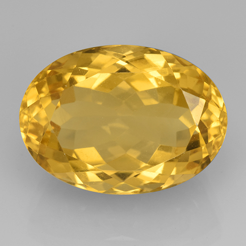 15.25 ct Oval facettiert gold-orange Citrin Edelstein 18.13 mm x 13 mm (Product ID: 504830)