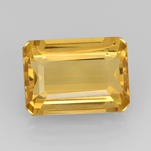 Medium Gold Citrina Gema - 7.9ct Corte octagonal (ID: 504912)