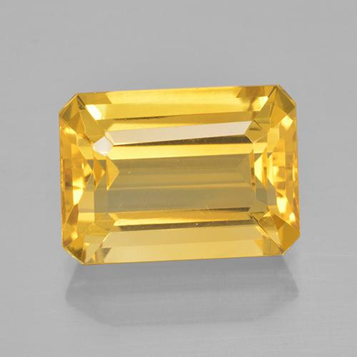 7.6ct Octagon Step Cut Yellow Golden Citrine Gem (ID: 504917)