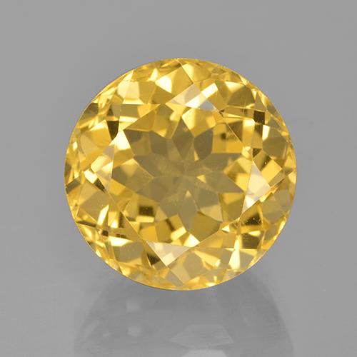 8.6ct Round Facet Yellow Golden Citrine Gem (ID: 505031)
