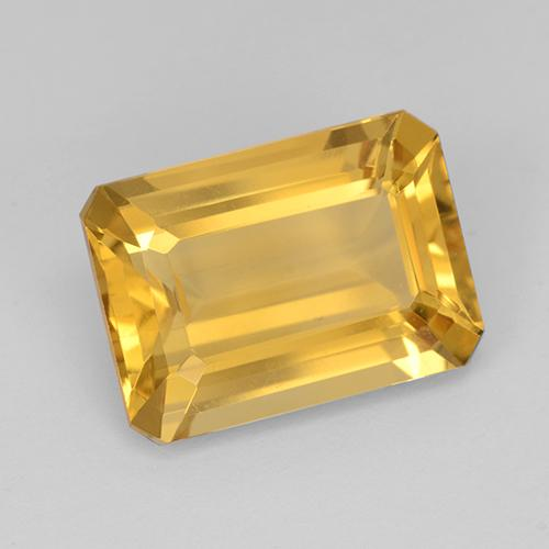 Medium Golden Citrina Gema - 7.3ct Corte octagonal (ID: 505065)