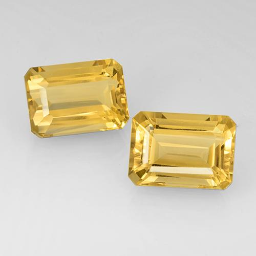 Yellow Golden Citrine Gem - 8.3ct Octagon Step Cut (ID: 505156)