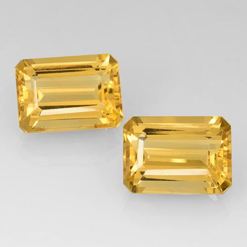 Yellow Golden Citrine Gem - 7.5ct Octagon Step Cut (ID: 505158)