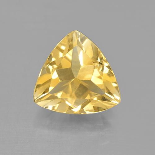 Medium Gold Citrine Gem - 2ct Trillion Facet (ID: 505221)