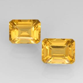 Yellow Golden Citrine Gem - 1.8ct Octagon Step Cut (ID: 505338)