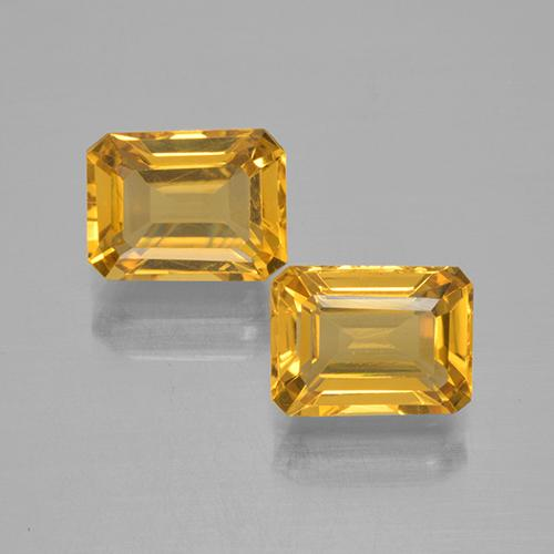 Yellow Golden Citrine Gem - 1.6ct Octagon Step Cut (ID: 505340)