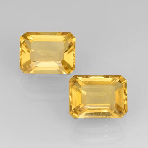 Bright Gold Citrina Gema - 1.6ct Corte octagonal (ID: 505342)