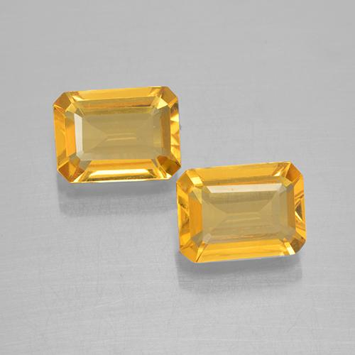 Yellow Golden Citrine Gem - 1.3ct Octagon Step Cut (ID: 505343)