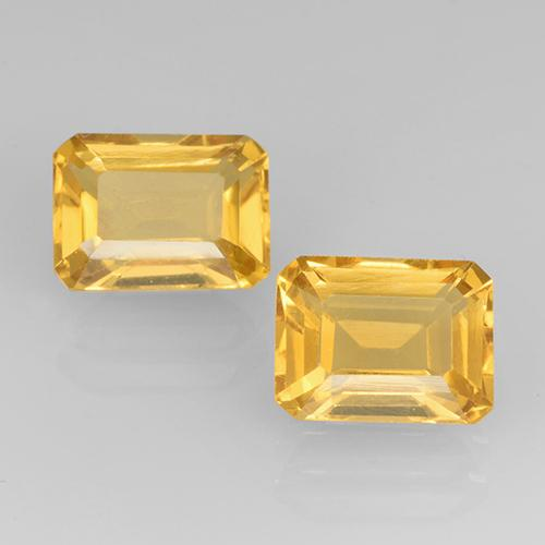 Medium Golden Citrine Gem - 1.7ct Octagon Step Cut (ID: 505347)