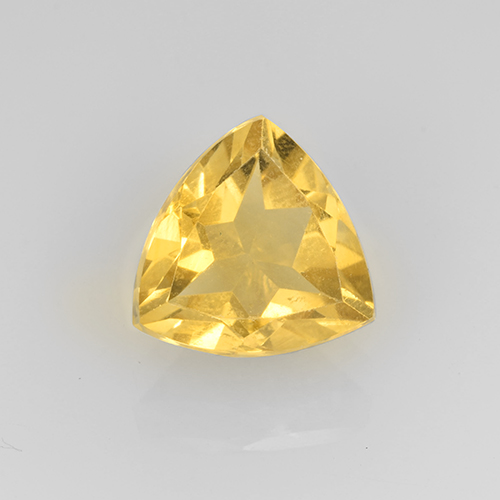 2ct Trillion Facet Yellow Golden Citrine Gem (ID: 505356)