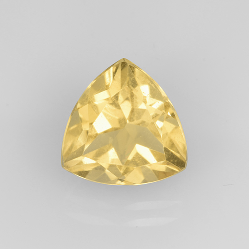 Medium Gold Citrina Gema - 2.3ct Forma trillón (ID: 505357)
