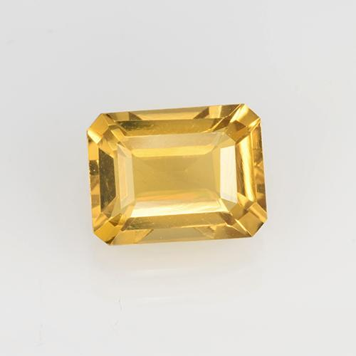 Medium Gold Citrine Gem - 1.6ct Octagon Step Cut (ID: 505566)
