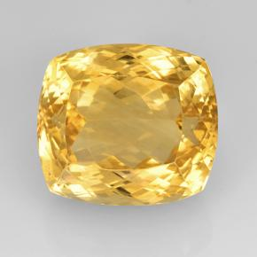 22.85 ct Cushion-Cut Bright Gold Citrine Gemstone 16.74 mm x 14.9 mm (Product ID: 505637)