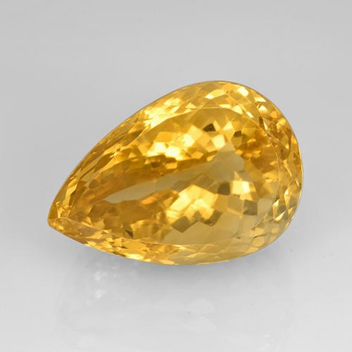 23.08 ct Sfaccettatura a pera Dorato Citrino Gem 20.67 mm x 14.2 mm (Photo A)