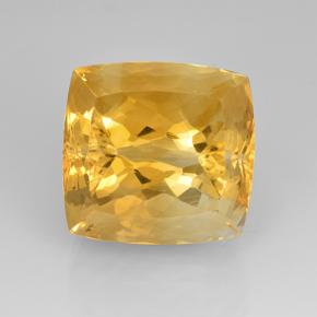 21.73 ct Corte en Forma Cojín Dark Golden Citrina Gema 15.87 mm x 15.2 mm (Foto A)