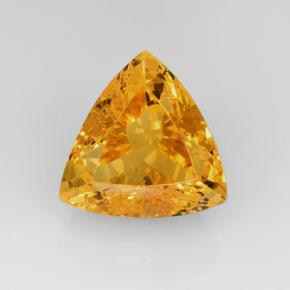 Yellow Golden Citrine Gem - 11.3ct Trillion Facet (ID: 505731)