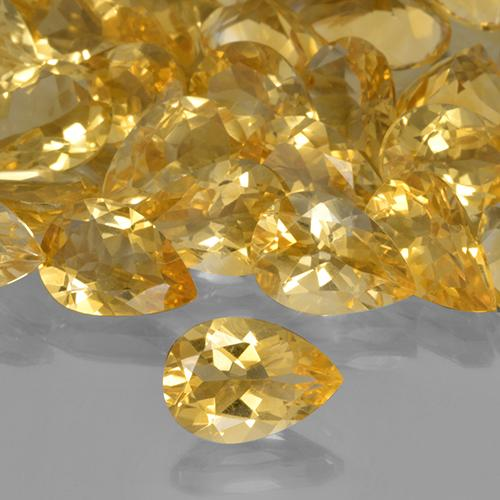 1.63 ct Birnen Schliff Golden Citrin Edelstein 10.20 mm x 7.1 mm (Product ID: 505842)