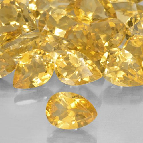 0.7ct Pear Facet Medium Golden Citrine Gem (ID: 506087)