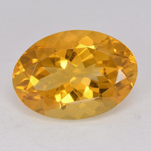11.5ct Oval Facet Dark Orange-Gold Citrine Gem (ID: 512335)