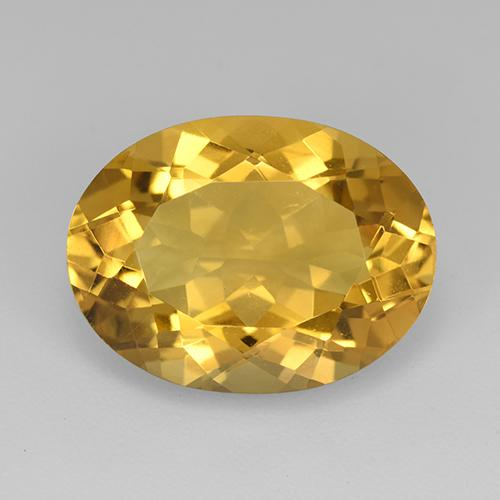 Medium Golden Citrina Gema - 8.9ct Forma ovalada (ID: 512358)