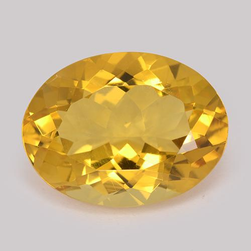 Medium-Light Orange-Gold Citrine Gem - 8.1ct Oval Facet (ID: 512885)