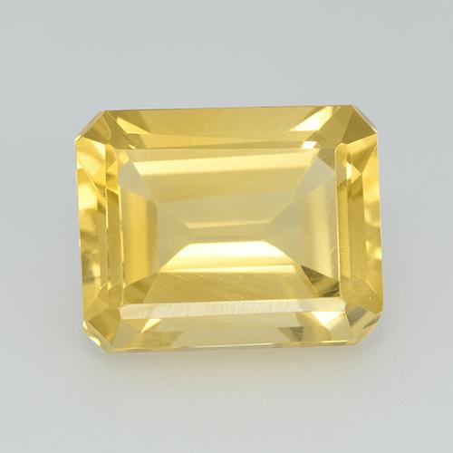 3.4ct Octagon Step Cut Tuscany Yellow Citrine Gem (ID: 513677)
