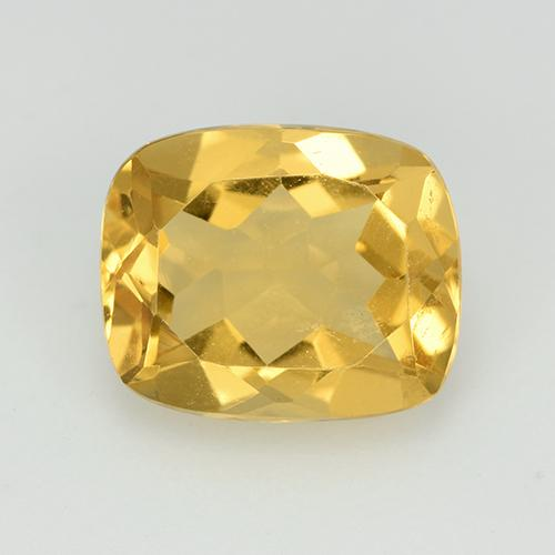 Golden Citrine Gem - 2.6ct Cushion-Cut (ID: 513998)