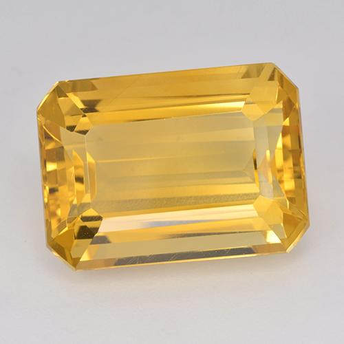 Yellow Golden Citrine Gem - 15.7ct Octagon Step Cut (ID: 514960)