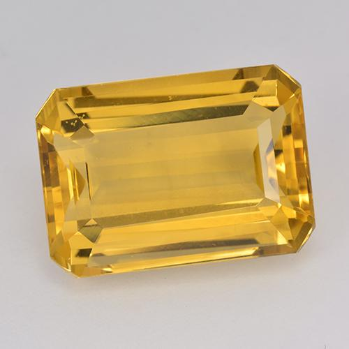 15.4ct Octogone taillé en degrés Deep Golden Orange Citrine gemme (ID: 514961)