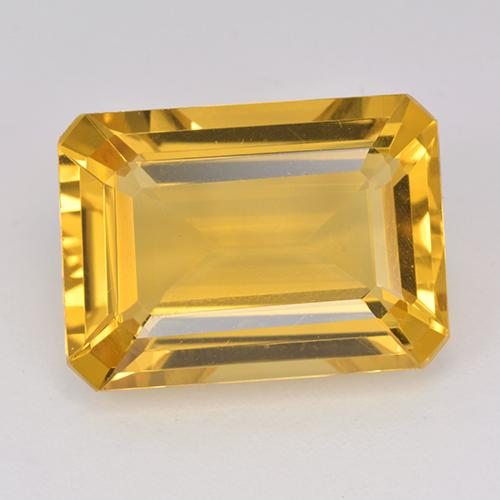13.9ct Octogone taillé en degrés Deep Golden Orange Citrine gemme (ID: 514964)