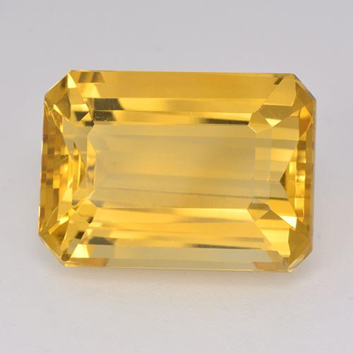 16ct Octagon Stufenschliff Medium Golden Citrin Edelstein (ID: 514966)