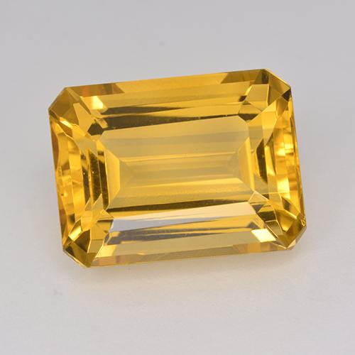 Yellow Golden Citrine Gem - 12.9ct Octagon Step Cut (ID: 514967)