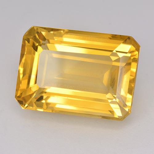 16.51 ct Octagon Stufenschliff Medium Golden Citrin Edelstein 17.99 mm x 12.7 mm (Product ID: 514968)